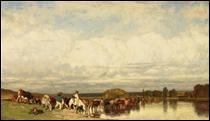 """Qui a peint """"Vaches traversant un gué"""" ?"""