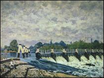 """Qui a peint """"Molesey Weir à Hampton Court le matin"""" ?"""