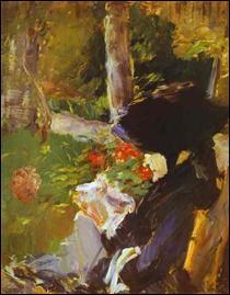 """Qui a peint """"Mère au jardin de Bellevue"""" ?"""