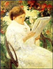 """Qui a peint """"Femme lisant dans un jardin"""" ?"""