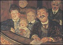 """Qui a peint """"Spectateurs d'une farce"""" ?"""