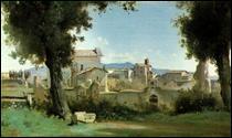 "Qui a peint ""Vue des jardins Farnèse, Rome"" ?"