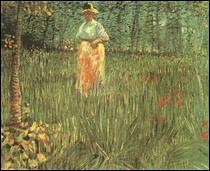 """Qui a peint """"Une femme marchant dans le jardin"""" ?"""