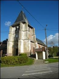 Voici l'église Sainte-Barbe de Gratibus. Village Samarien, il se situe en région ...