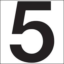 Comment dit-on 5 en japonais ?