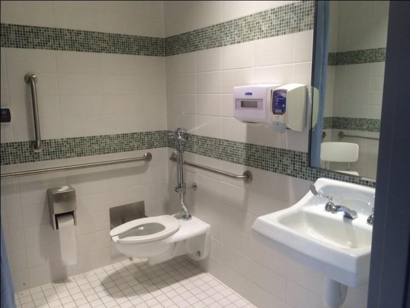 Dans le WC, où se trouve le sèche main ?