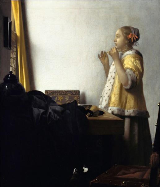 """Quel peintre hollandais du XVIIe a réalisé le tableau """"La Dame au collier de perles"""" ?"""