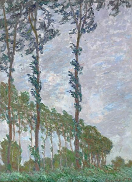 """""""Peupliers, effet de vent"""" est l'œuvre de quel peintre ?"""