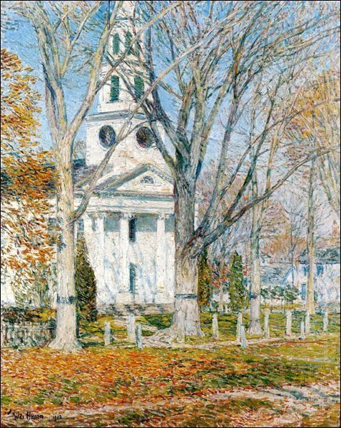 """Quel impressionniste américain a peint le tableau """"Église à Old Lyme"""" ?"""