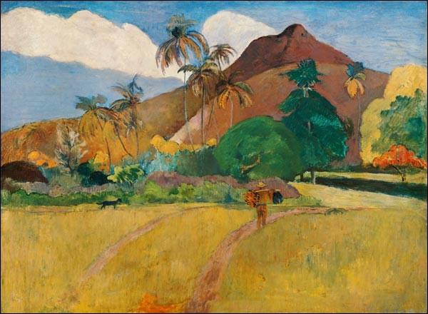 """Qui a réalisé le tableau """"Paysage tahitien"""" ?"""