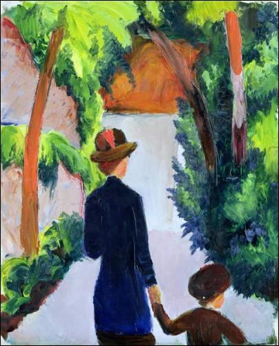 """Quel expressionniste allemand est l'auteur du tableau """"Mère et enfant"""" ?"""