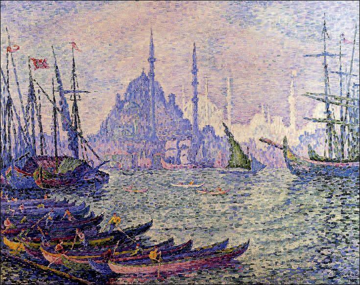 """Quel artiste a peint le tableau pointilliste """"Voiliers à Constantinople"""" ?"""