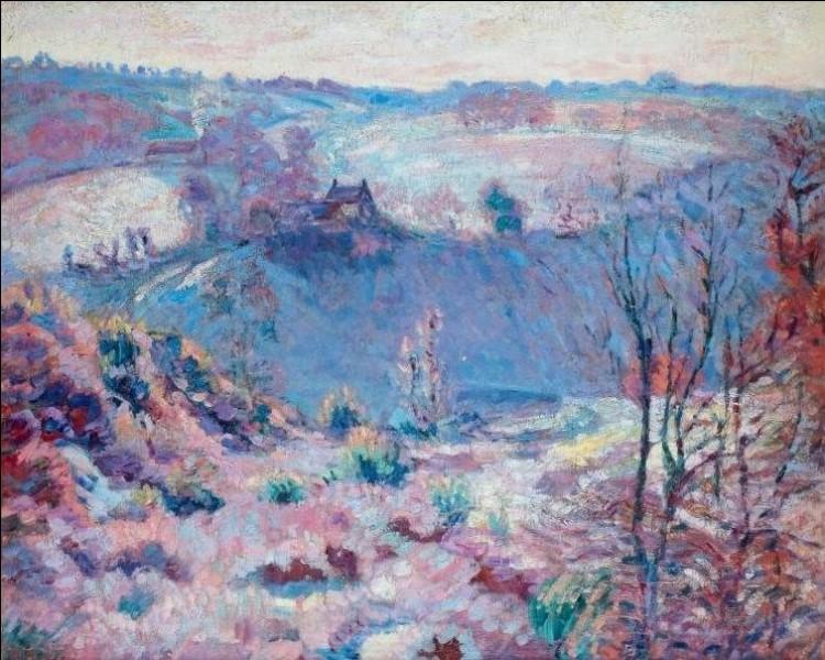 """Qui a peint """"Paysage de la Creuse sous la neige"""" ?"""