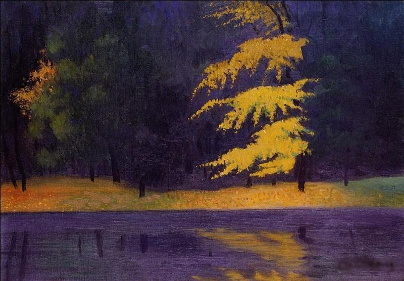 """Qui a réalisé le tableau """"Le lac dans le bois de Boulogne"""" ?"""