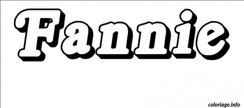 Quelle est la tendance du prénom Fannie ?