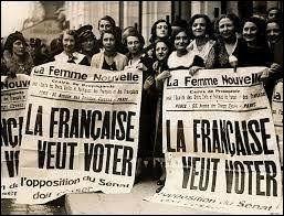 En quelle année les femmes françaises ont-elles eu le droit de vote ?