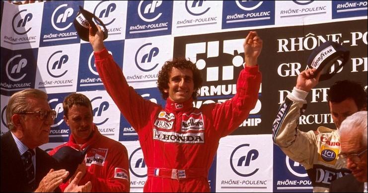 Ce pilote automobile, quatre fois champion du monde de Formule 1 entre 1985 et 1993, c'est ... Prost.