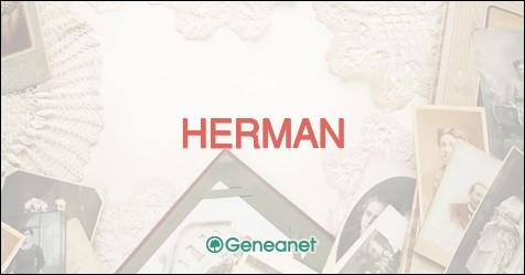 Et quel est le département français où nous avons moins d'Herman ?