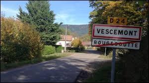 Nous terminons notre balade dans le Territoire de Belfort, à l'entrée de Vescemont. Nous sommes dans l'ancienne et nouvelle région ...