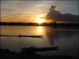 Le Maroni est un cours d'eau qui traverse la Guyane.