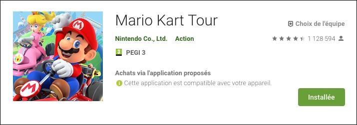 Mario Kart Tour a atteint la barre de combien de téléchargements dès sa première semaine de sortie ?