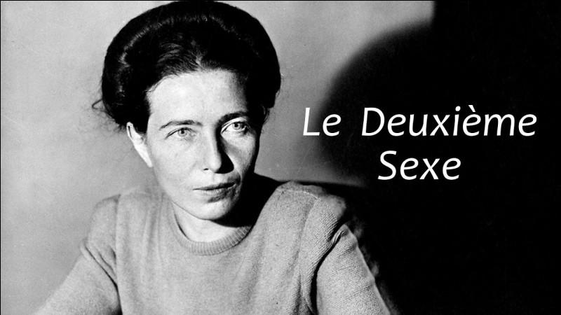"""Quelle romancière française est l'auteure du célèbre ouvrage """"Le Deuxième Sexe"""", paru en 1949 ?"""