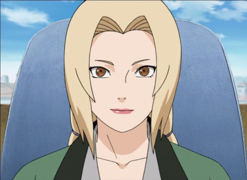 Tsunade, Jiraya et Naruto ont eu du mal pour la convaincre à devenir le cinquième Hokage. Quelle marque a-t-elle ?
