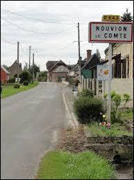 Nous sommes dans les Hauts-de-France, à l'entrée de Nouvion-le-Comte. Nous nous trouvons dans le département ...