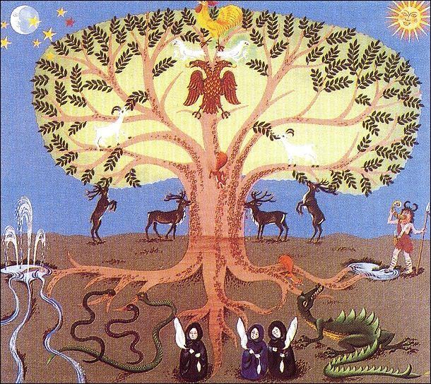 Comment s'appelle le royaume des elfes de lumière dans l'Yggdrasil, axe cosmique, de l'imaginaire nordique ?