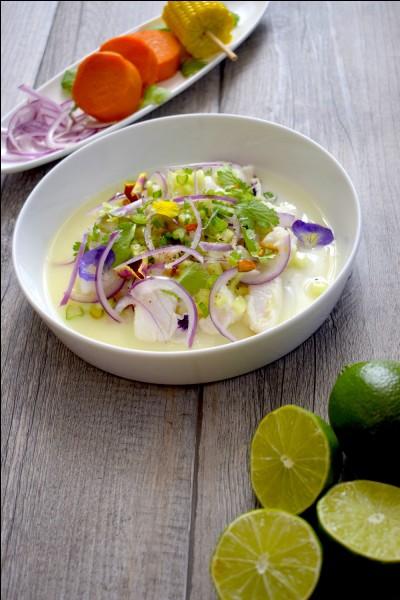 Si on mangeait ailleurs ? Quel est ce plat d'Amérique latine, plus spécialement péruvien, composé de crustacés et poissons crus marinés ?