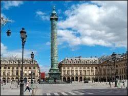Qui a fait érigé la colonne Vendôme ?