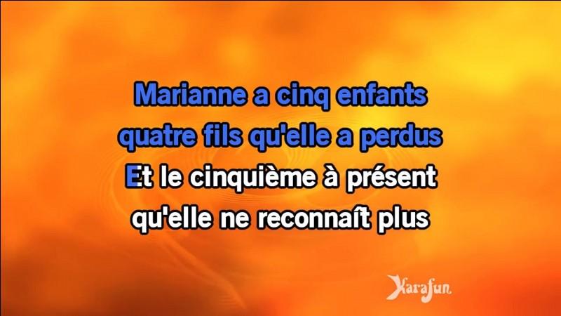 """""""Que Marianne était jolie"""" : Artiste n°1 ou artiste n°2 ?"""