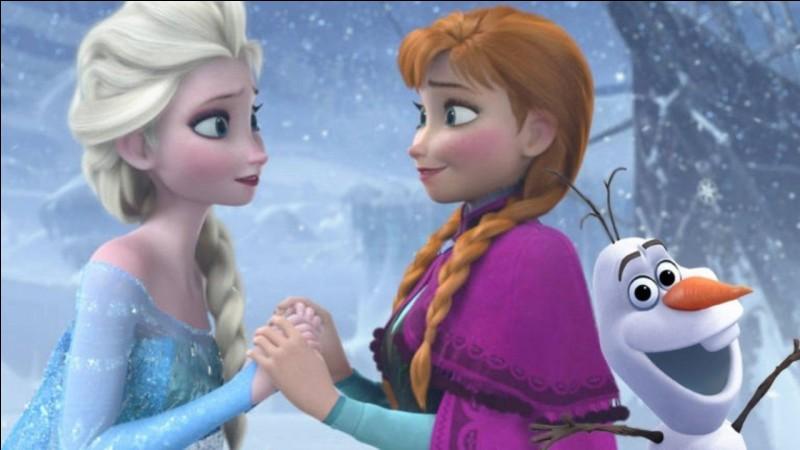 Dans quel dessin animé Disney voit-on Elsa et Anna ?