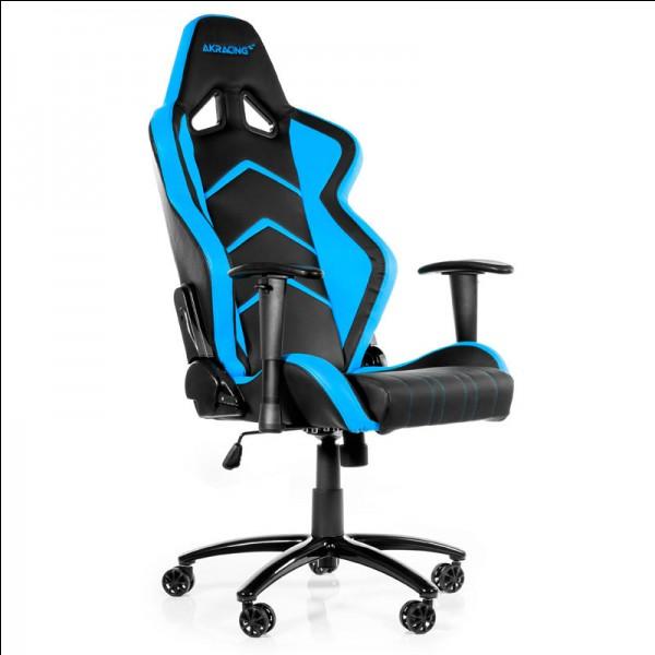 Il faut bien que je sois correctement installé pour faire du bon travail, même sur des jeux vidéo ! Quelle est la couleur du fauteuil ?