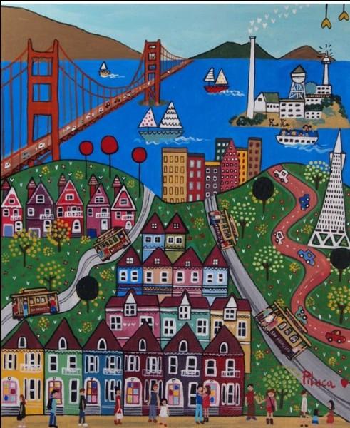 """Qui chantait """"Et j'ai vu San Francisco Bridge rallier l'univers en deux rives"""" ?"""