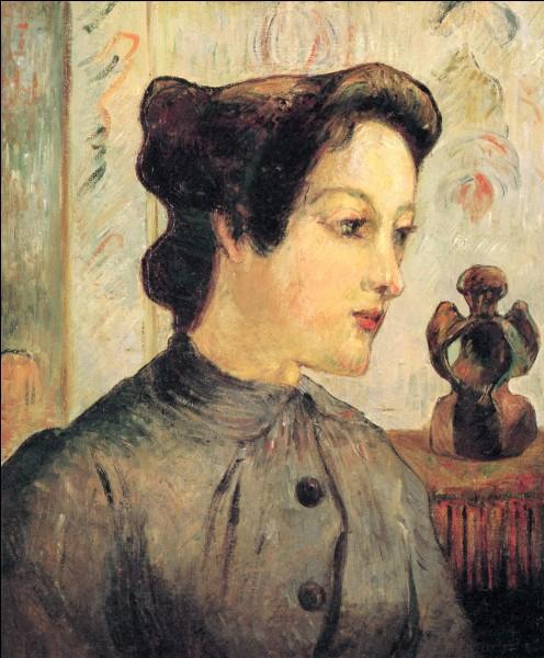 """Voici """"La Femme au chignon"""", par le peintre :"""
