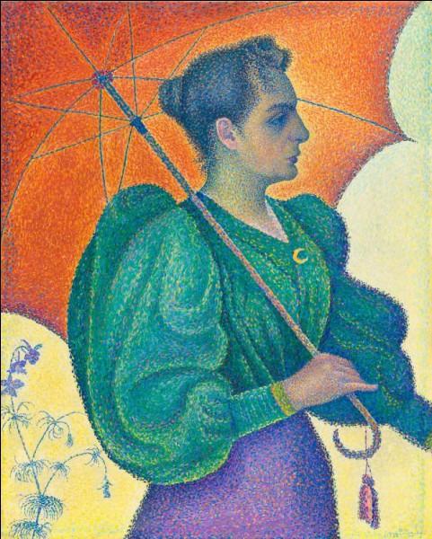 "Sa ""Femme à l'ombrelle"" porte un chignon :"