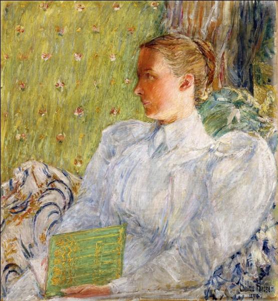 Voici le portrait d'Edith Blaney, toujours avec un chignon. De qui est l'œuvre ?