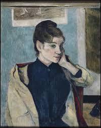 Madeleine Bernard aussi porte un chignon, pour poser devant le peintre :