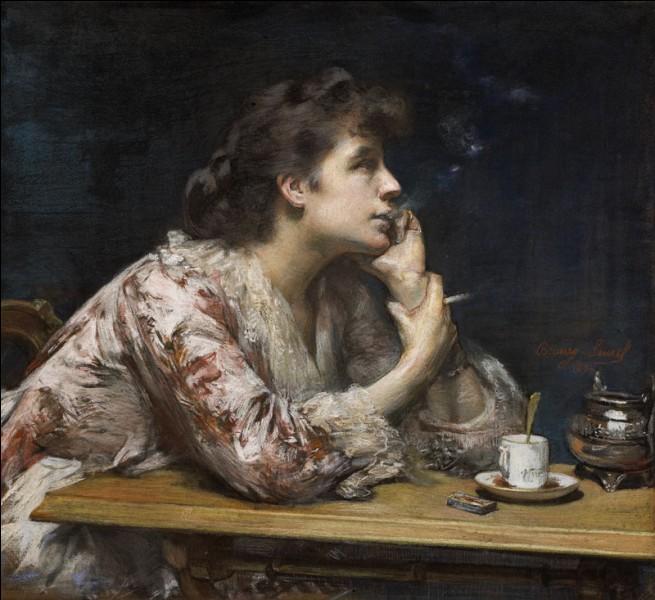 Qui est l'artiste ayant représenté cette fumeuse ?