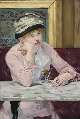 Célèbre toile sur laquelle cette buveuse tient une cigarette ! Qui est son auteur ?