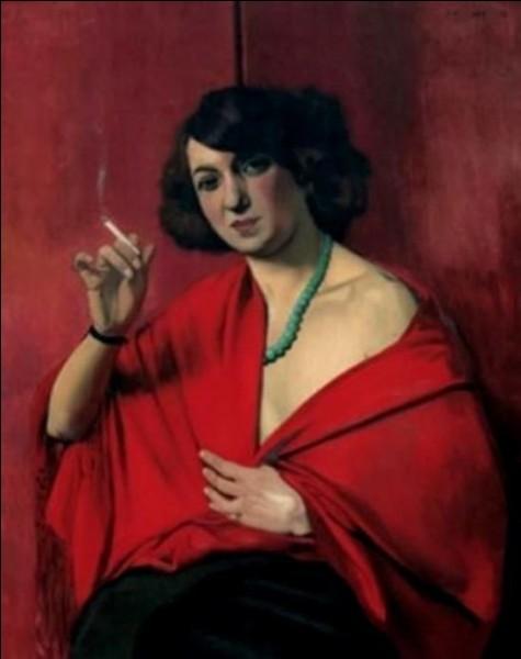 """Pour qui posait cette """"Femme drapée de rouge, tenant une cigarette"""" ?"""