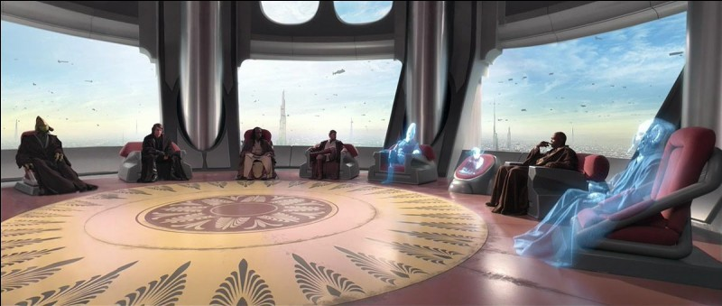 Quand on siège au conseil Jedi, on peut y...