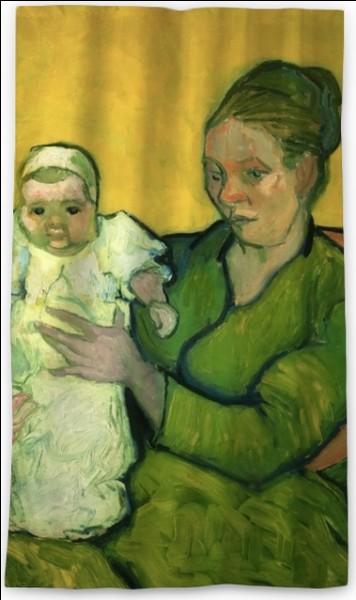 À qui appartient cette toile représentant une mère et de son enfant ?