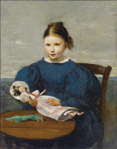 """À qui appartient la toile """"Petite fille avec une poupée"""" ?"""