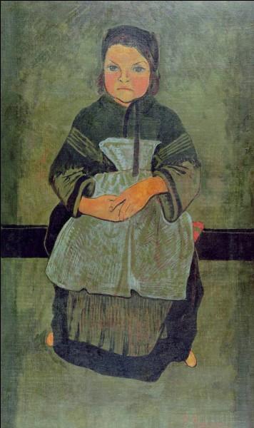 """Qui a représenté cet """"Enfant breton assis"""" ?"""