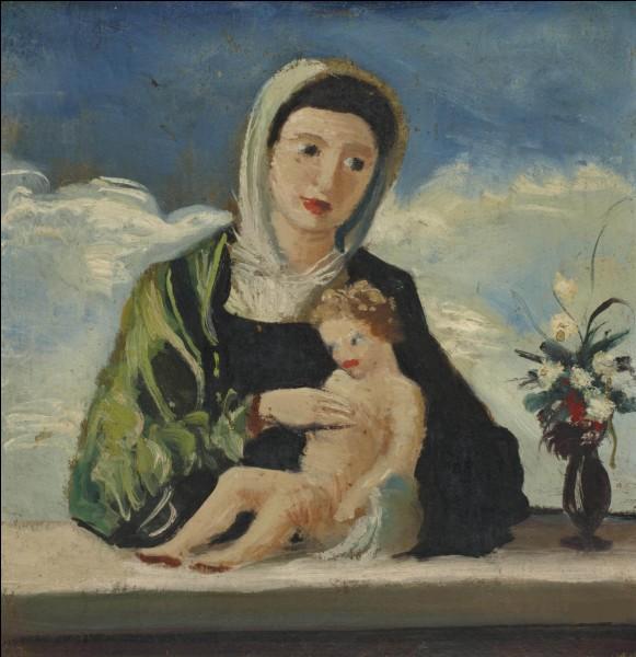 """Qui a représenté """"La Vierge et l'enfant"""" ?"""