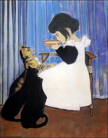 """Qui a peint """"Enfant et chats"""" ?"""