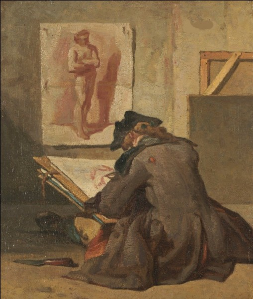 """Qui a peint """"Jeune étudiant dessinant"""" ?"""