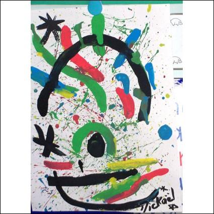 Voici un véritable dessin d'enfant, de quel peintre est-il inspiré ?